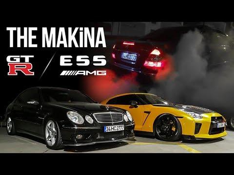 NISSAN GT-R R35 & MERCEDES-BENZ E55 AMG | THE MAKİNA
