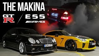 NISSAN GT-R R35 & MERCEDES-BENZ E55 AMG | THE MAKİNA