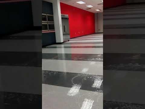 VCT tile floor scrub1