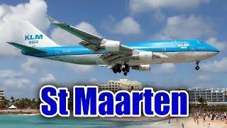 Increíble aterrizaje de un Boeing 747 en St. Maarten