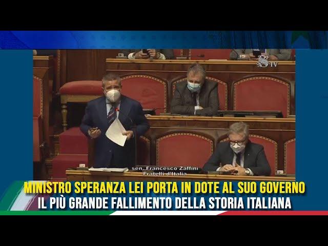L'intervento del Sen. Zaffini sulle comunicazioni del Min. Speranza sull'emergenza COVID-19