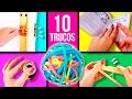 10 TRUCOS prácticos con GOMAS ELÁSTICAS * ¡¡Mira para qué pueden servir!! Top 10 Life Hacks