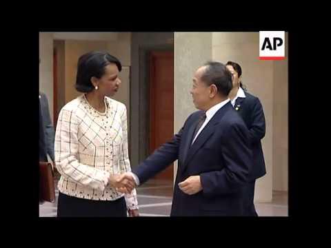 Rice meets Jiang Zemin, Randt
