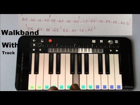 Bharat ane nenu song lesson with tabs -Walkband with drums