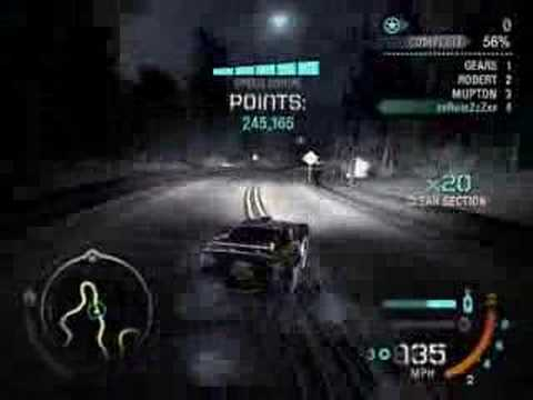 NFS Carbon Drift World Record