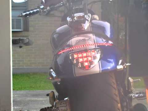 M109 M109R D2 taillight + Gen.2 Knight rider LED - YouTube