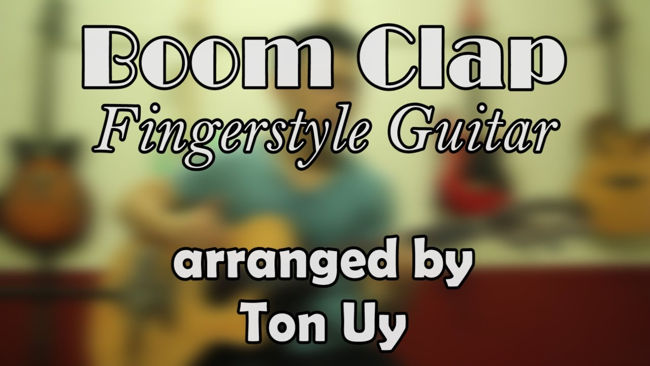 Boom clap fingerstyle guitar charli xcx youtube