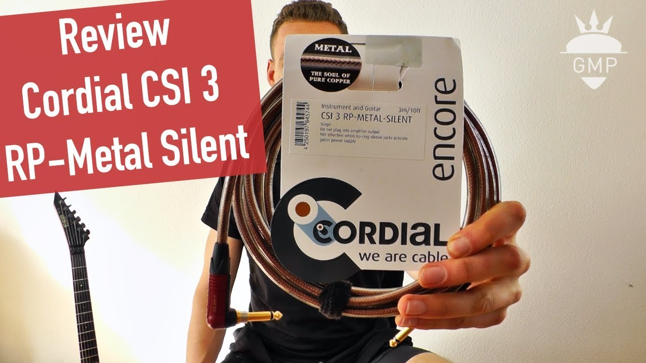 Cordial CSI 3 RP Metal Silent Gitarrenkabel Review - YouTube