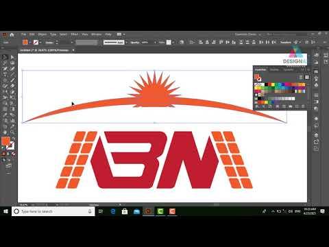 Học thiết kế logo năng lương mặt trời, logo cách điệu từ chữ cái