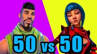 NEW 50v50 Mode! ⚡️ Fortnite BR New Update 50 vs 50 Gameplay
