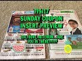 7/9/17 SUNDAY COUPON INSERT PREVIEW / COUPON GIVEAWAY!!!