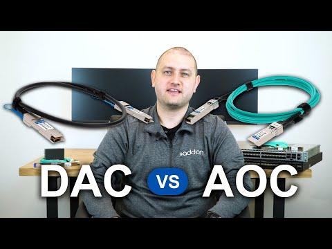 DAC vs. AOC: Network Cabling Comparison