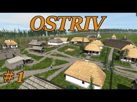 Ostriv Ep1 - Getting Started Tutorial - City Builder - Lets Play, Gameplay