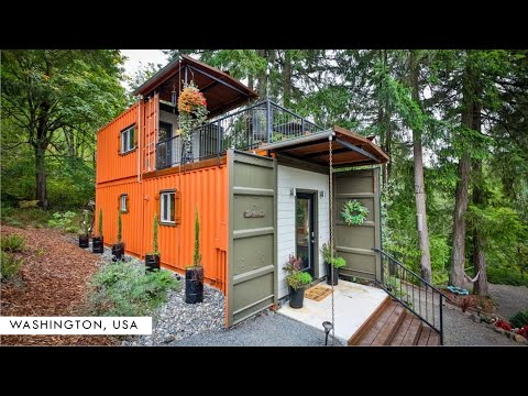 Shipping Container Tiny Home in Southwest Washington, USA