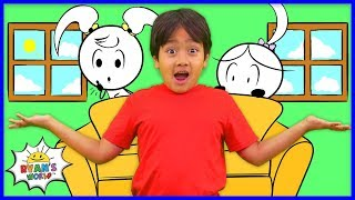 Download Ryan play hide and Seek with Emma and Kate EK Doodles | Kids animation fun Mp3 and Videos