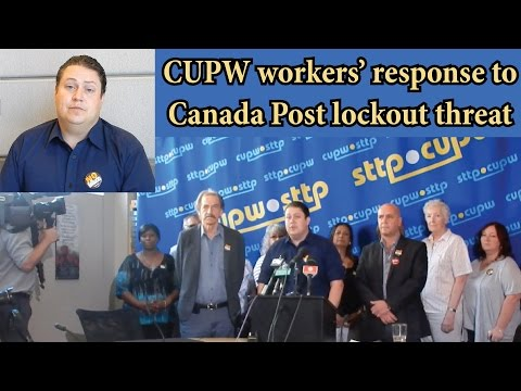 Canada Post lockout - CUPW's Mike Palecek responds to notice 2016