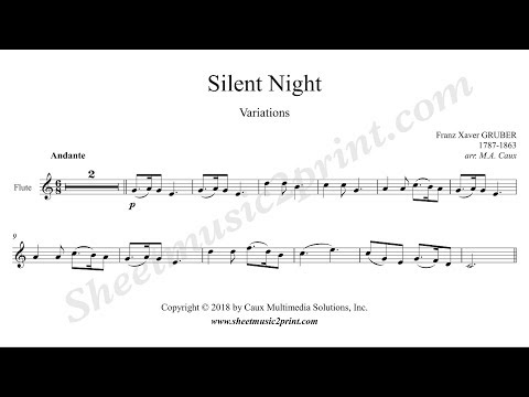 Silent Night Variations - Flute