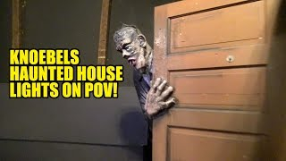 Knoebels Haunted House Dark Ride Lights On POV | Theme Park Review