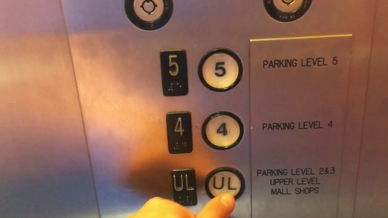 Schindler Elevator At yellow Parking Deck Mall At Short