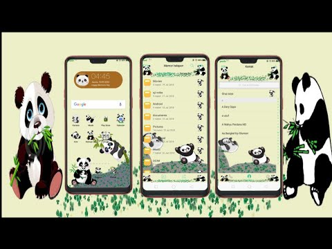 Theme Oppo Panda Melon Kalem Tembus Wa Ig For F5f7 Color