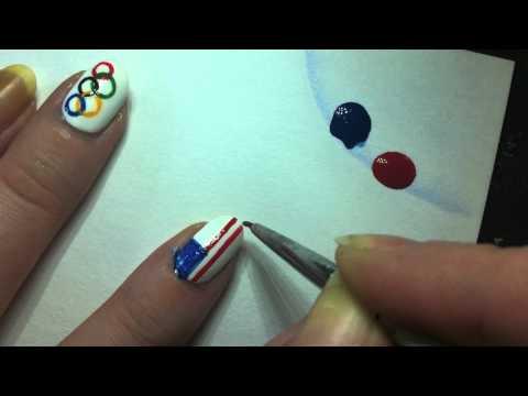 American Flag Nail Art Tutorial