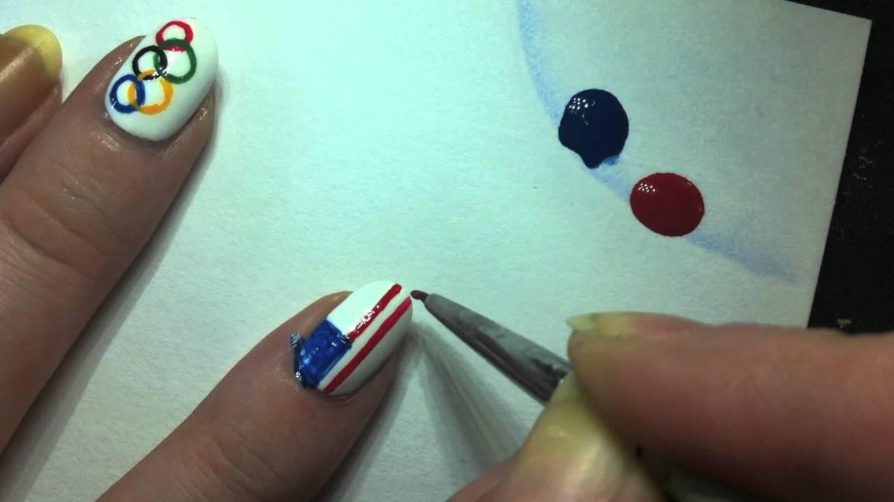 American Flag Nail Art Tutorial Youtube