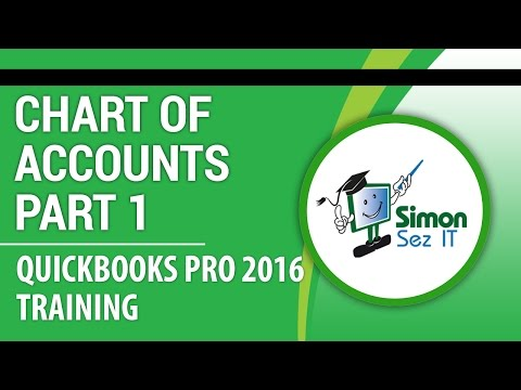 Quickbooks Pro Tutorial Setting Up The Chart Of Accounts