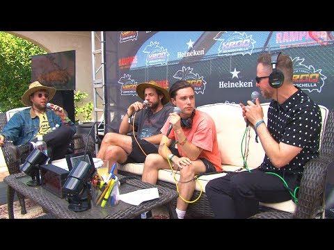 Stryker talks with The Neighbourhood at the KROQ Coachella Hous