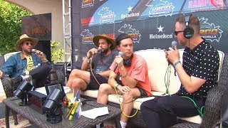 Stryker talks with The Neighbourhood at the KROQ Coachella Hous