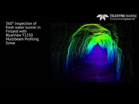 High resolution structural inspection of flooded tunnel