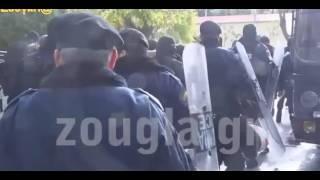 Пола Рупа скандировала революционные лозунги