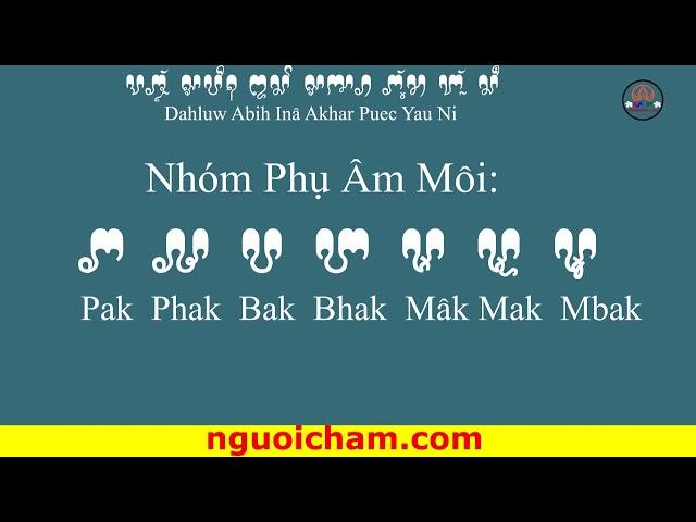 Bài số 3:  Phụ Âm  www.nguoicham.com