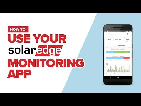 How to use your SolarEdge monitoring app on a smartphone or