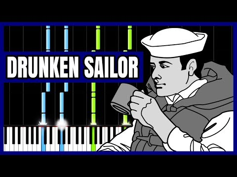 Drunken Sailor - Sea Shanty [Piano Tutorial] (Synthesia)