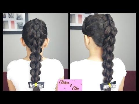 3D Pull Through Braid | Braided Hairstyles | Elastic Bands Hairstyles