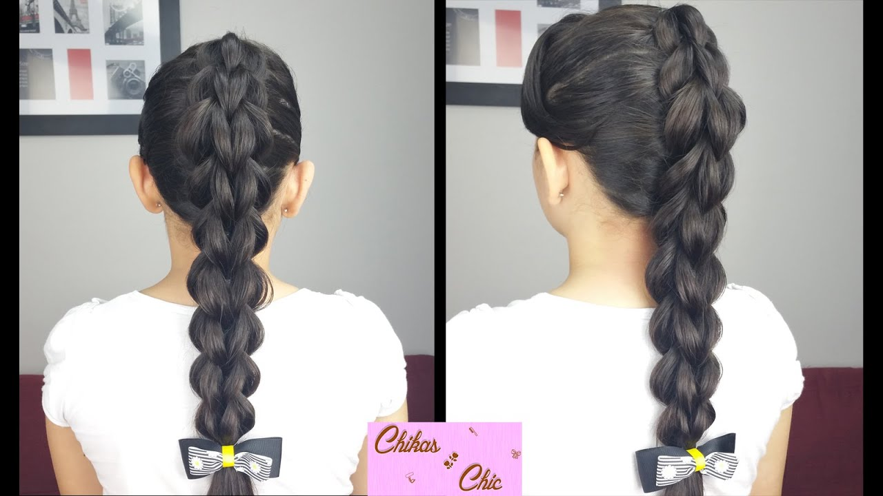 3d Pull Through Braid  Braided Hairstyles  Elastic Bands Hairstyles   Youtube