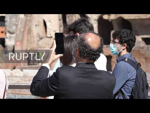 Italy: Rome's Landmark Colosseum Reopens After Three Months