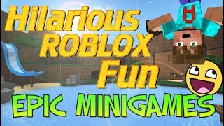 RoBlox Minigames | Did I just get GOOD at Roblox? | Roblox Lets Play | Funny Gaming