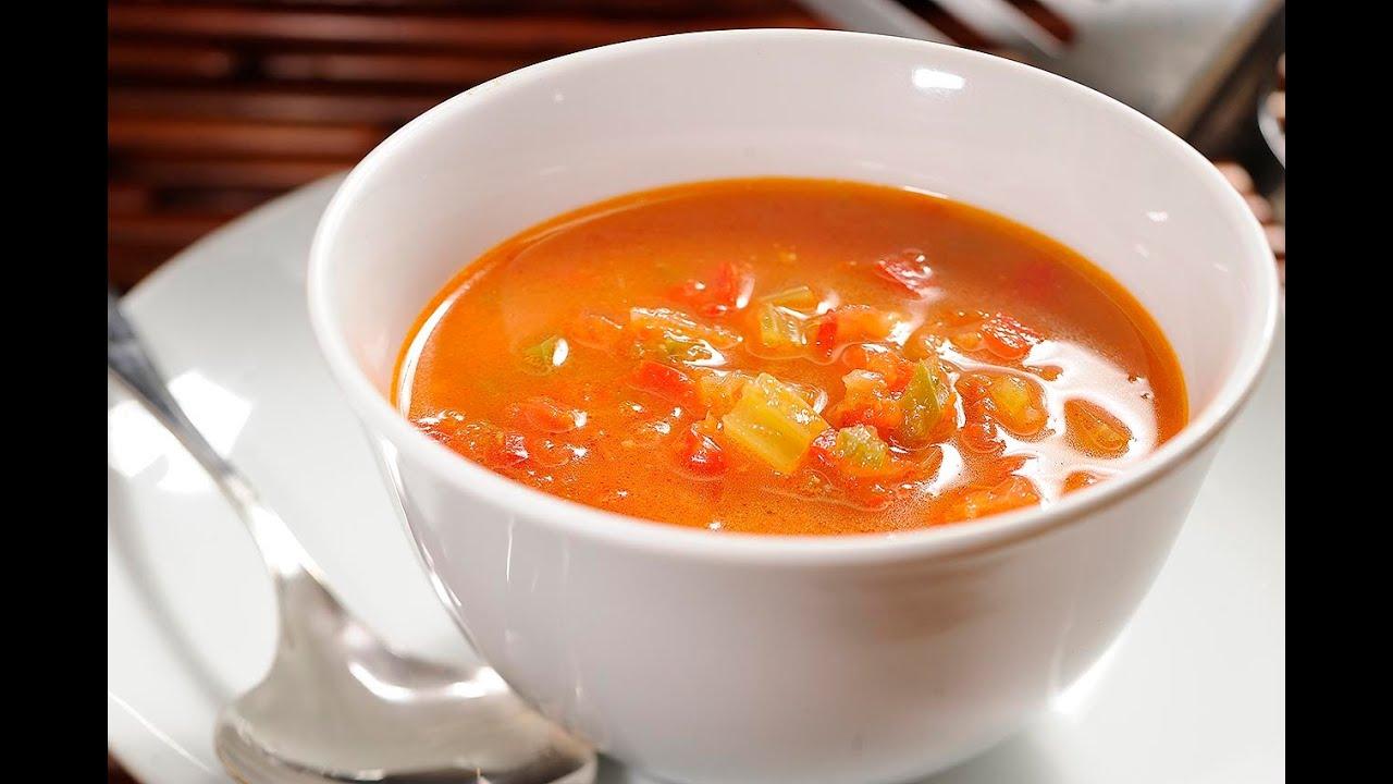 Sopa de pimiento morr n con tocino receta f cil de - Como hacer mermelada de pimientos ...