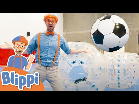 Blippi Plays a