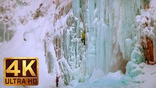 Beautiful Winter Scenes in 4K | Franklin Falls in Winter - Snoqualmie Region - TRAILER 46