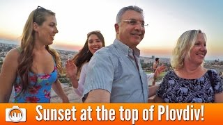 SUNSET AT THE TOP OF PLOVDIV! | Orthodox Church, Roman Theatre, Jewish Wedding & Market (Bulgaria)