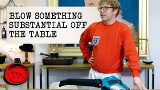 Blow Something Substantial Off The Table | Full Task | Taskmaster