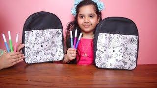 تحدي تلوين الشنطة ب 3 ألوان روعة !!! شفا 3Marker Backpack Challenge