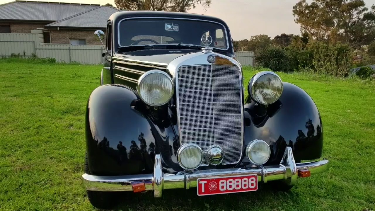 1951 Mercedes 170S by Firma Trading Classic Cars Australia - YouTube