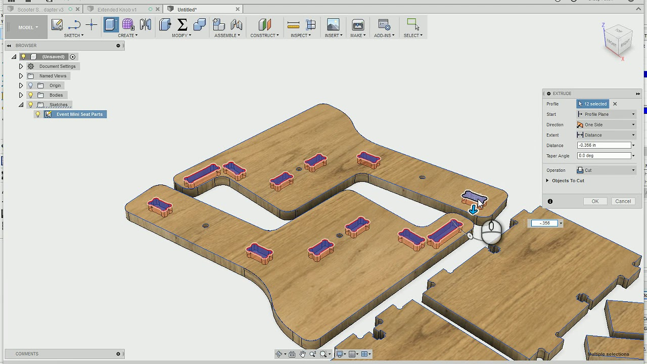 Moving a project from V carve pro to Fusion 360 and post processing for  Shopbot CNC router