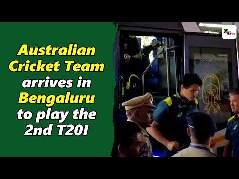 Watch: Australia arrives in Bengaluru to play the 2nd T20I against India | India vs Australia