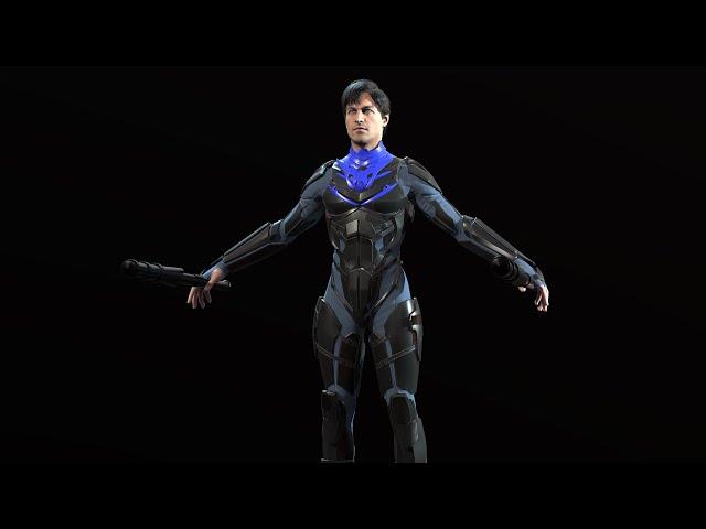 Делаем 3д модель персонажа суперхера( покраска 6 этап вроде)