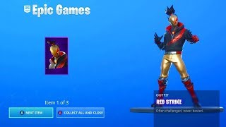CLAIM FREE NOW THE NEW RED GOLPE Starter Pack in Fortnite...
