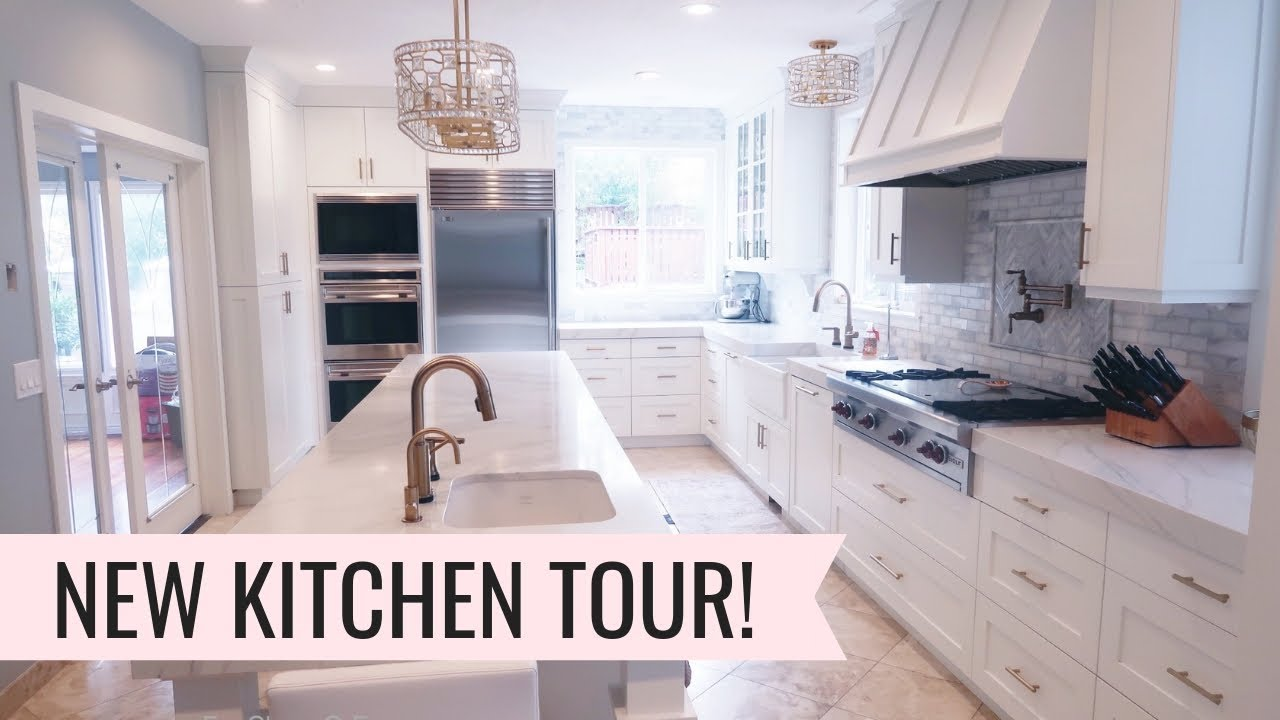 kitchen reno gray backsplash tour remodel details youtube
